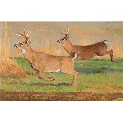 Kuhn, Bob - Hasty Retreat, Whitetails