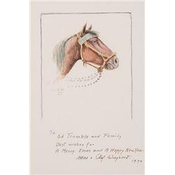 Wieghorst, Olaf - Horse's Head--Ink/Watercolor