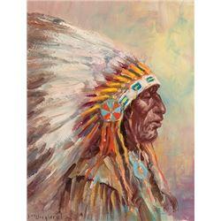 Wieghorst, Olaf - Indian Chief - Portrait Bust