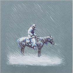Wieghorst, Olaf - Rider in Snowstorm
