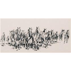Borein, Edward - Running Horses