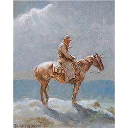 Wieghorst, Olaf - The Night herder - Moonlight/Clouds