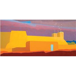 Sharer, William - Turquoise Door at Ranchos de Taos