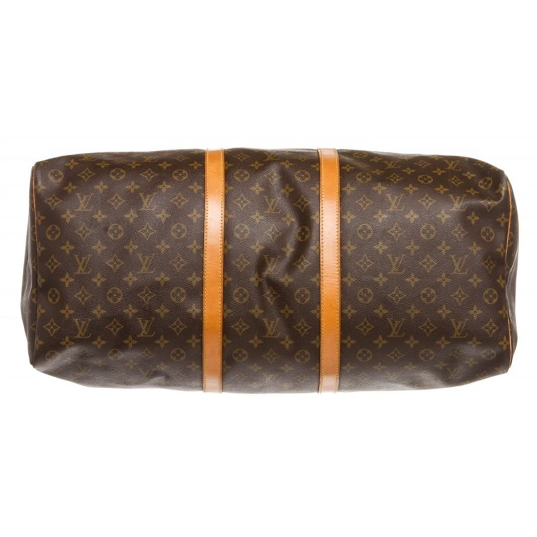 191c79bf8ed5 ... Image 6   Louis Vuitton Monogram Canvas Leather Keepall 60 cm Duffle  Bag Luggage ...
