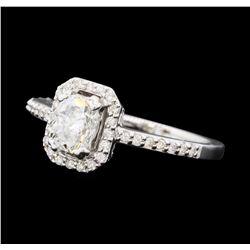 0.86 ctw Diamond Ring - 14KT White Gold