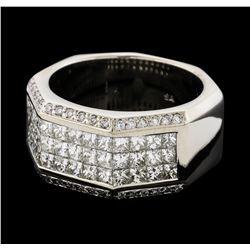 3.50 ctw Diamond Ring - 14KT White Gold