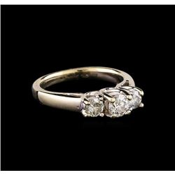 14KT White Gold 0.84 ctw Diamond Ring