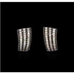 14KT White Gold 1.56 ctw Black Diamond Earrings