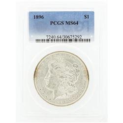 1896 MS64 NGC Morgan Silver Dollar