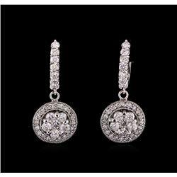 14KT White Gold 3.26 ctw Diamond Earrings