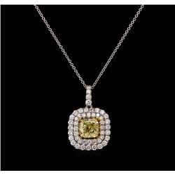 14KT Two-Tone Gold 2.15 ctw Diamond Pendant