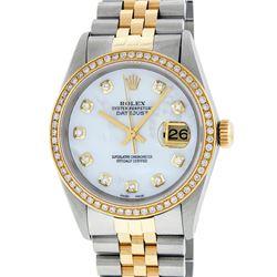 Rolex Two-Tone Diamond Quickset DateJust Men's Watch