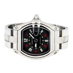 Cartier Stainless Steel Men's Roadster Automatic Wristwatch
