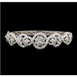 6.53 ctw Diamond Bracelet - 18KT White Gold