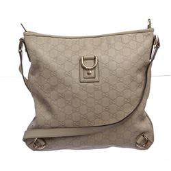 Gucci Ivory Guccissima Monogram Leather Crossbody Messenger Bag