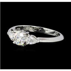 0.85 ctw Diamond Ring - Platinum