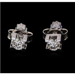 0.24 ctw Diamond Earrings - 14KT White Gold