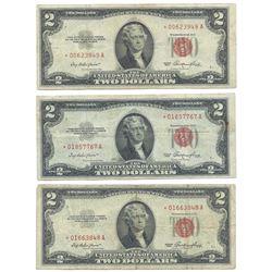(6) 1953 $2 Legal Tender Star Notes