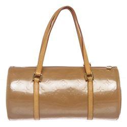 Louis Vuitton Beige Vernis Leather Bedford Barrel Bag