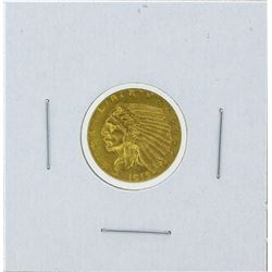 1915 $2 1-2 Indian Head Quarter Eagle Gold Coin BU