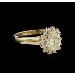 1.36 ctw Diamond Ring - 14KT Yellow Gold