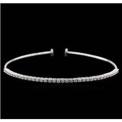 0.82 ctw Diamond Bracelet - 14KT White Gold