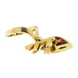Three Charm Ring - 14KT Yellow Gold