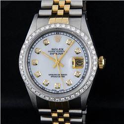 Rolex Two-Tone MOP Diamond Dial Men's Watch
