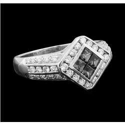 Sapphire and Diamond Ring - Platinum