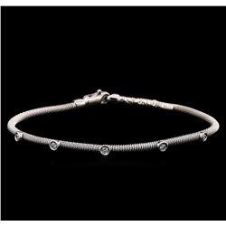 0.30 ctw Diamond Bangle Bracelet - 14KT White Gold