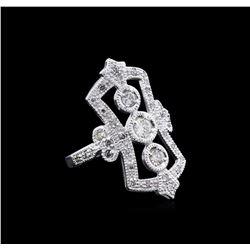 0.64 ctw Diamond Ring - 18KT White Gold