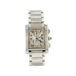 Cartier Stainless Steel Francaise Chronograph Quartz Men's Watch