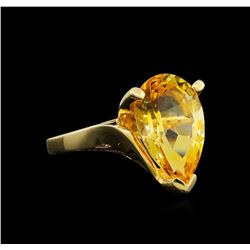 Citrine Ring - 14KT Yellow Gold