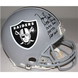 Tim Brown Signed Raiders Full-Size Authentic Proline Helmet with (4) Career Stat Inscriptions (Radtk