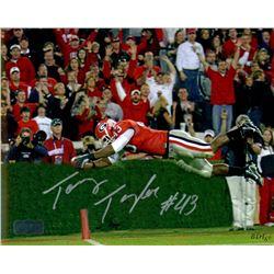 Tony Taylor Signed Georgia 8x10 Photo (Radtke COA)