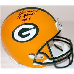 """Brett Favre Signed LE Packers Full-Size Helmet Inscribed """"4 Retired 7/18/15"""" #6/44 (Favre Hologram"""