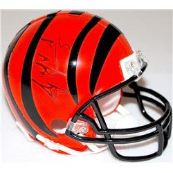 AJ McCarron Signed Bengals Mini-Helmet (Radtke COA)