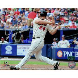 "Evan Gattis Signed Braves 8x10 Photo Inscribed ""el oso blanco"" (Radtke COA)"