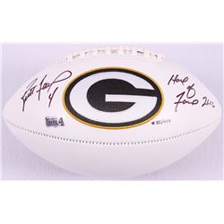 "Brett Favre Signed LE Packers Logo Football Inscribed ""Hall of Fame 2016"" #20/444 (Favre Hologram)"