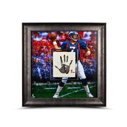 John Elway Signed LE Broncos 36x36 Custom Framed Tegata Handprint Display (UDA COA)
