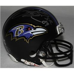 Steve Smith Sr. Signed Ravens Mini-Helmet (Smith Hologram)
