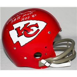 "Len Dawson Signed Chiefs Full-Size TK Suspension Helmet Inscribed ""SB IV MVP""  ""HOF 87"" (Radtke COA)"
