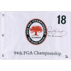 Rory McIlroy Signed LE 2012 PGA Championship Pin Flag Inscribed  2012 PGA Champion  (UDA COA)