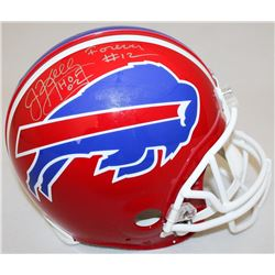"Jim Kelly Signed Bills Full-Size Authentic Pro-Line Helmet Inscribed ""Forever #12""  ""HOF 02"" Limited"