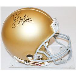 """Tim Brown Signed Notre Dame Full-Size Helmet Inscribed """"Heisman '87"""" (Radtke COA  Brown Hologram)"""