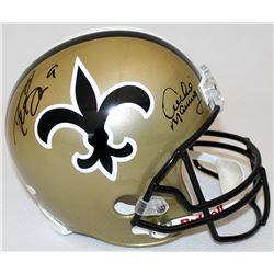 Drew Brees  Archie Manning Signed Saints Full-Size Helmet (JSA Hologram  Brees Hologram)
