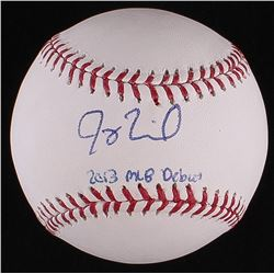 "Joey Terdoslavich Signed OML Baseball Inscribed ""2013 MLB Debut"" (Radtke COA)"