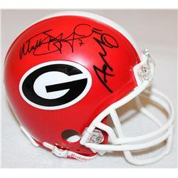 Aaron Murray  Matthew Stafford Signed Georgia Mini-Helmet (Radtke COA  Stafford Hologram)