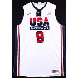 "Michael Jordan Signed LE Team USA Nike Retro Jersey Inscribed ""2009 HOF"" (UDA COA)"