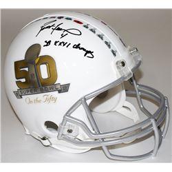 """Brett Favre Signed Super Bowl 50 Full-Size Authentic Pro-Line Helmet Inscribed """"SB XXXI Champs"""" (Fav"""